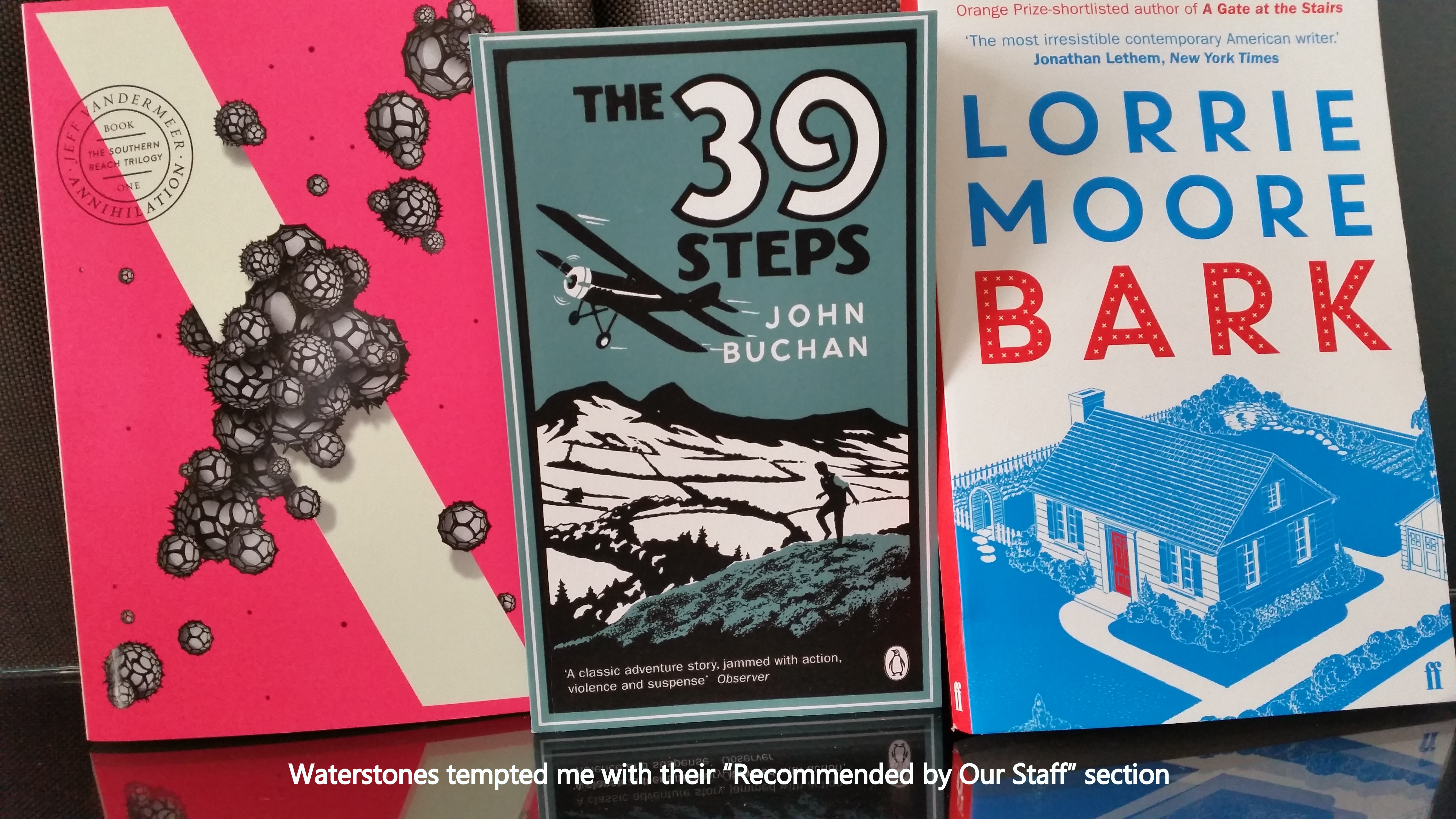 three recommended books by waterstones' staff