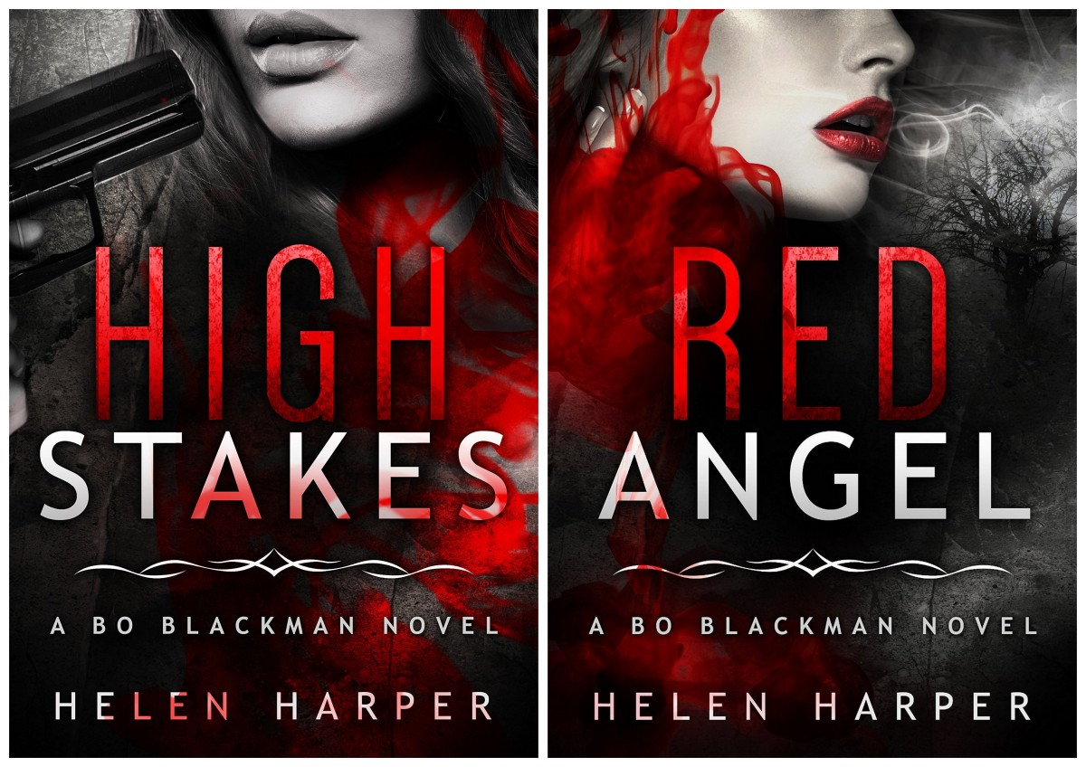"""High Stakes - Bo Blackman #3 and ""Red Angel - Bo Blackman #4"" by Helen Harper - so good I consumed them back to back"