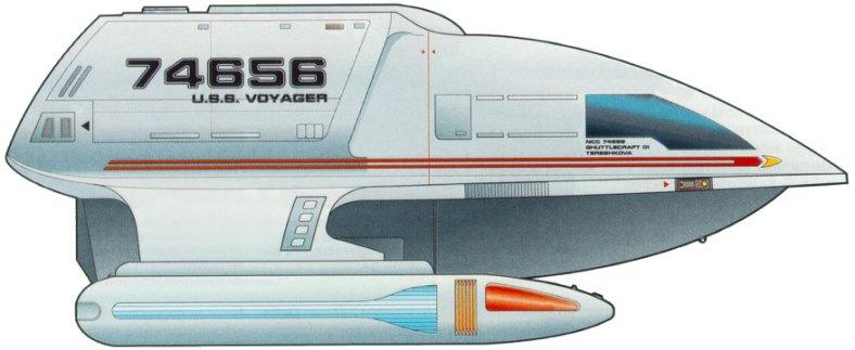 star trek voyager spaceshuttle