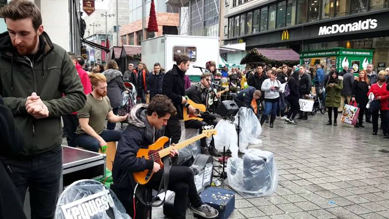 Keywest busking in Liverpool