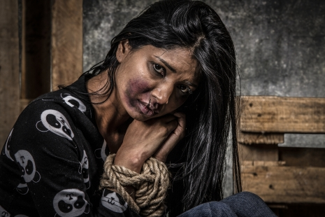 Trafficked Nigerian woman