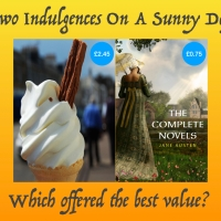 Which is worth more, a 99 or the Complete Novels of Jane Austen? Register your vote.